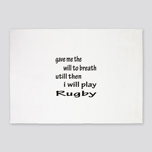 I will play Rugby 5'x7'Area Rug