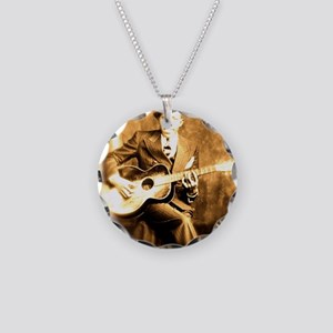 The Devil Made Me Do It Necklace Circle Charm
