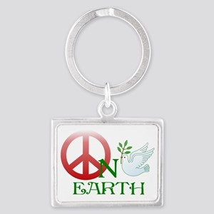 Peace on earth Landscape Keychain