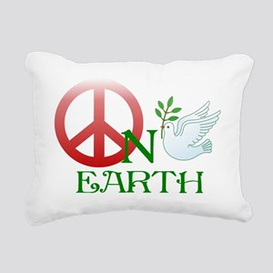 Peace on earth Rectangular Canvas Pillow