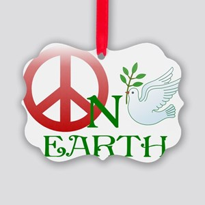 Peace on earth Picture Ornament