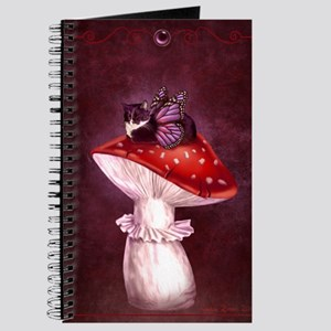 Mushroom Fairy Cat Journal