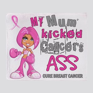 - Mum Kicked Breast Cancer 42 Throw Blanket