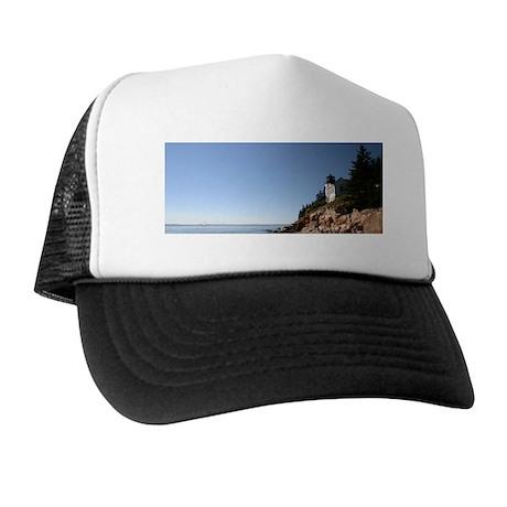 Bass Harbor Light Framed Print Trucker Hat