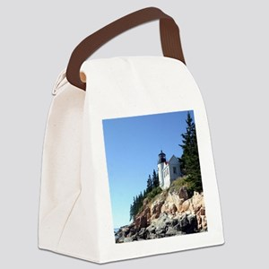Bass Harbor Light Canvas Lunch Bag
