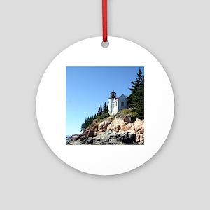 Bass Harbor Light Round Ornament