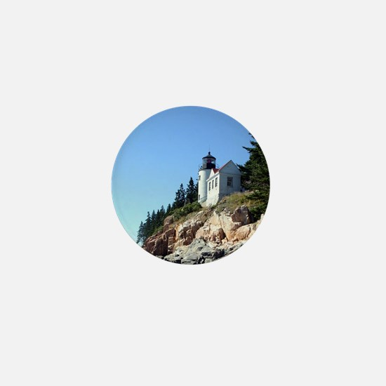 Bass Harbor Light Mini Button