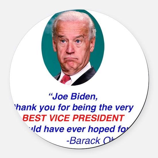 Joe Biden Best VP Collectible Round Car Magnet