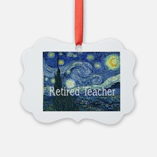 Retired TEacher Van Gogh Blanket Ornament