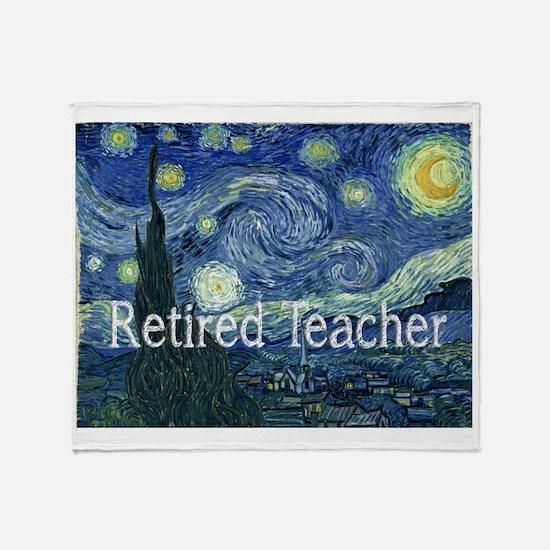 Retired TEacher Van Gogh Blanket Throw Blanket