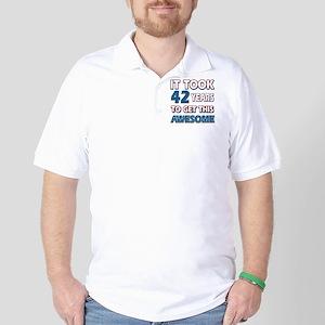 Cool 42 years birthday designs Golf Shirt