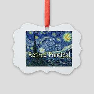 Retired Principal Van gogh blanke Picture Ornament