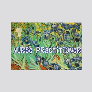 Nurse Practitioner blanket van go Rectangle Magnet