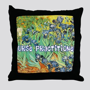 Nurse Practitioner blanket van gogh Throw Pillow