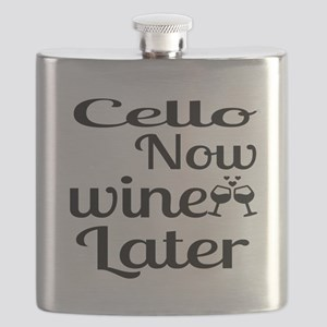 Cello Now Wine Later Flask