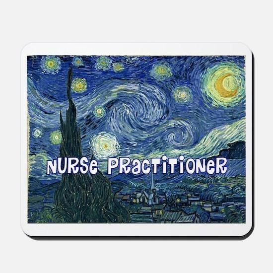 Nurse Practitioner Van goh blanket Mousepad