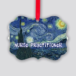 Nurse Practitioner Van goh blanke Picture Ornament