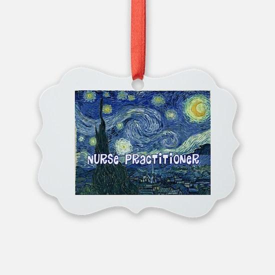 Nurse Practitioner Van goh blanke Ornament