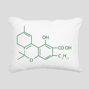 THC Molecule Rectangular Canvas Pillow