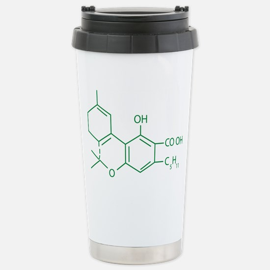 THC Molecule Stainless Steel Travel Mug