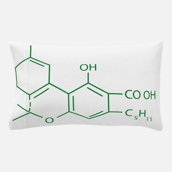 THC Molecule Pillow Case