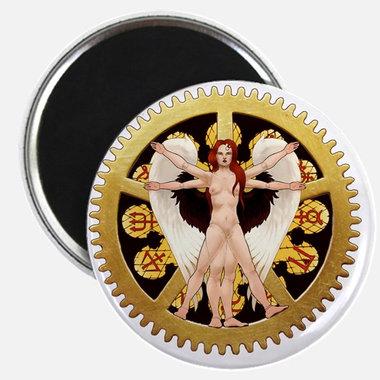 The Vitruvian Angel Magnet