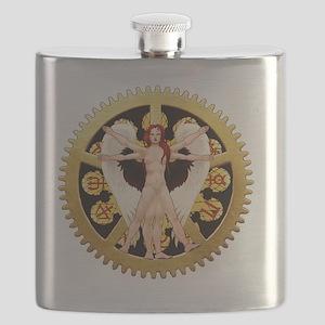 The Vitruvian Angel Flask