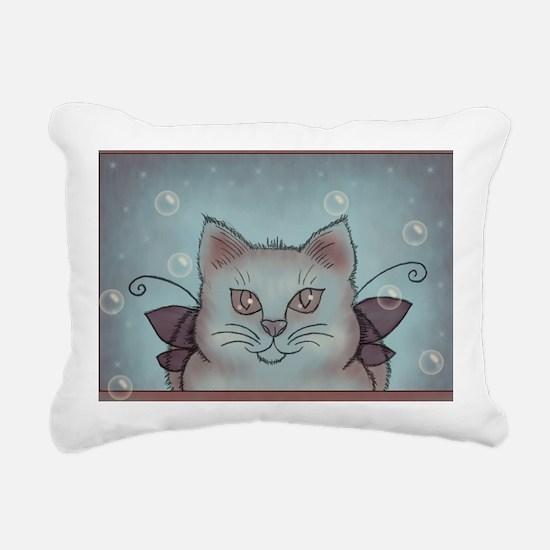 Bubble Cat Rectangular Canvas Pillow