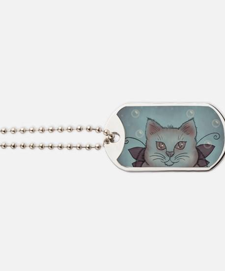 Bubble Cat Dog Tags