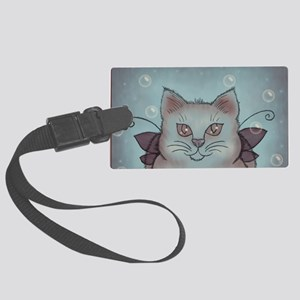 Bubble Cat Large Luggage Tag