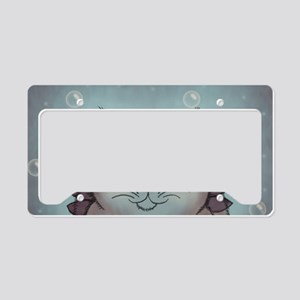 Bubble Cat License Plate Holder