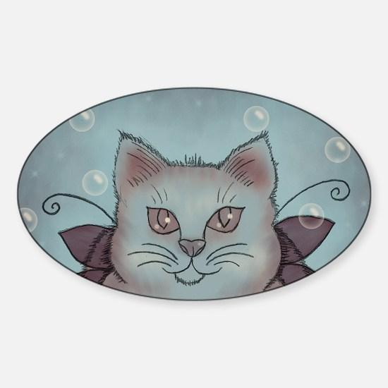 Bubble Cat Sticker (Oval)