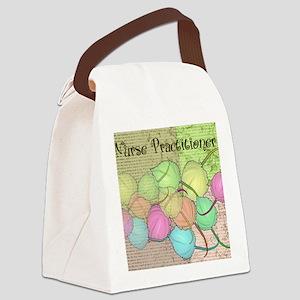 Nurse Practitioner Blanket LEAVES Canvas Lunch Bag