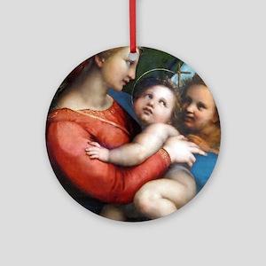 Madonna della Tenda - Raphael Round Ornament