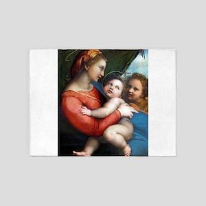 Madonna della Tenda - Raphael 5'x7'Area Rug