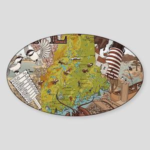 Maine Jada Sticker (Oval)