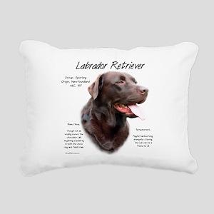 Chocolate Lab Rectangular Canvas Pillow