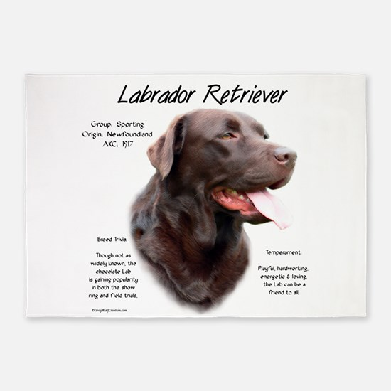 Chocolate Lab 5'x7'Area Rug