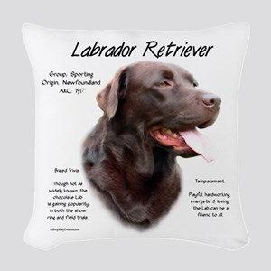 Chocolate Lab Woven Throw Pillow