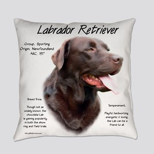 Chocolate Lab Everyday Pillow