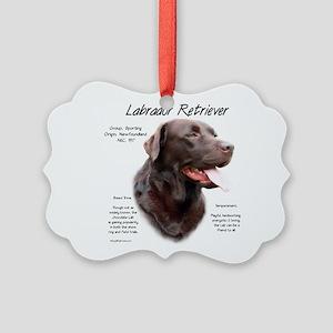 Chocolate Lab Picture Ornament