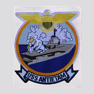 uss antietam patch transparent Throw Blanket
