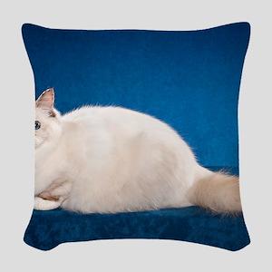 Birman Cat Calendar Woven Throw Pillow