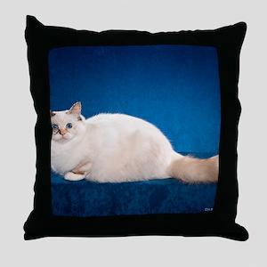 Birman Cat Calendar Throw Pillow