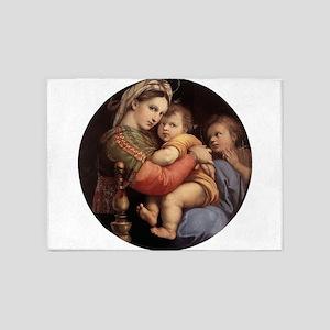 Madonna della seggiola - Raphael 5'x7'Area Rug