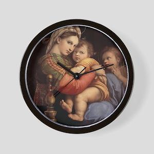 Madonna della seggiola - Raphael Wall Clock
