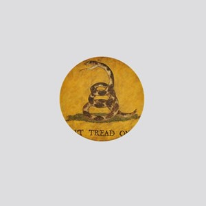 www.aliesfolkart.com Gadsden Flag Mini Button