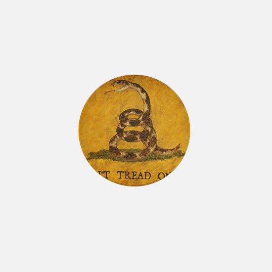 www.aliesfolkart.com Gadsden Flag Mini Button