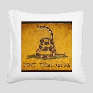 www.aliesfolkart.com Gadsden  Square Canvas Pillow