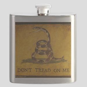 www.aliesfolkart.com Gadsden Flag Flask
